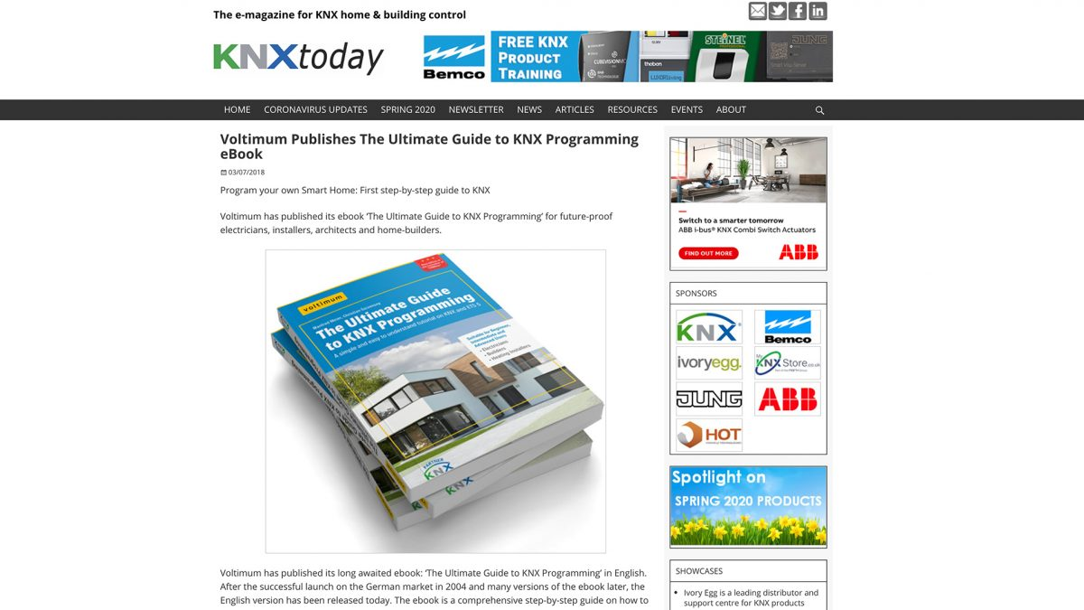 KNXToday covers our ebook